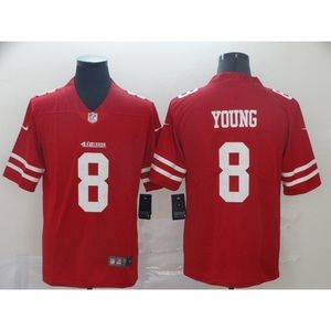 San Francisco 49ers Steve Young Red Jersey